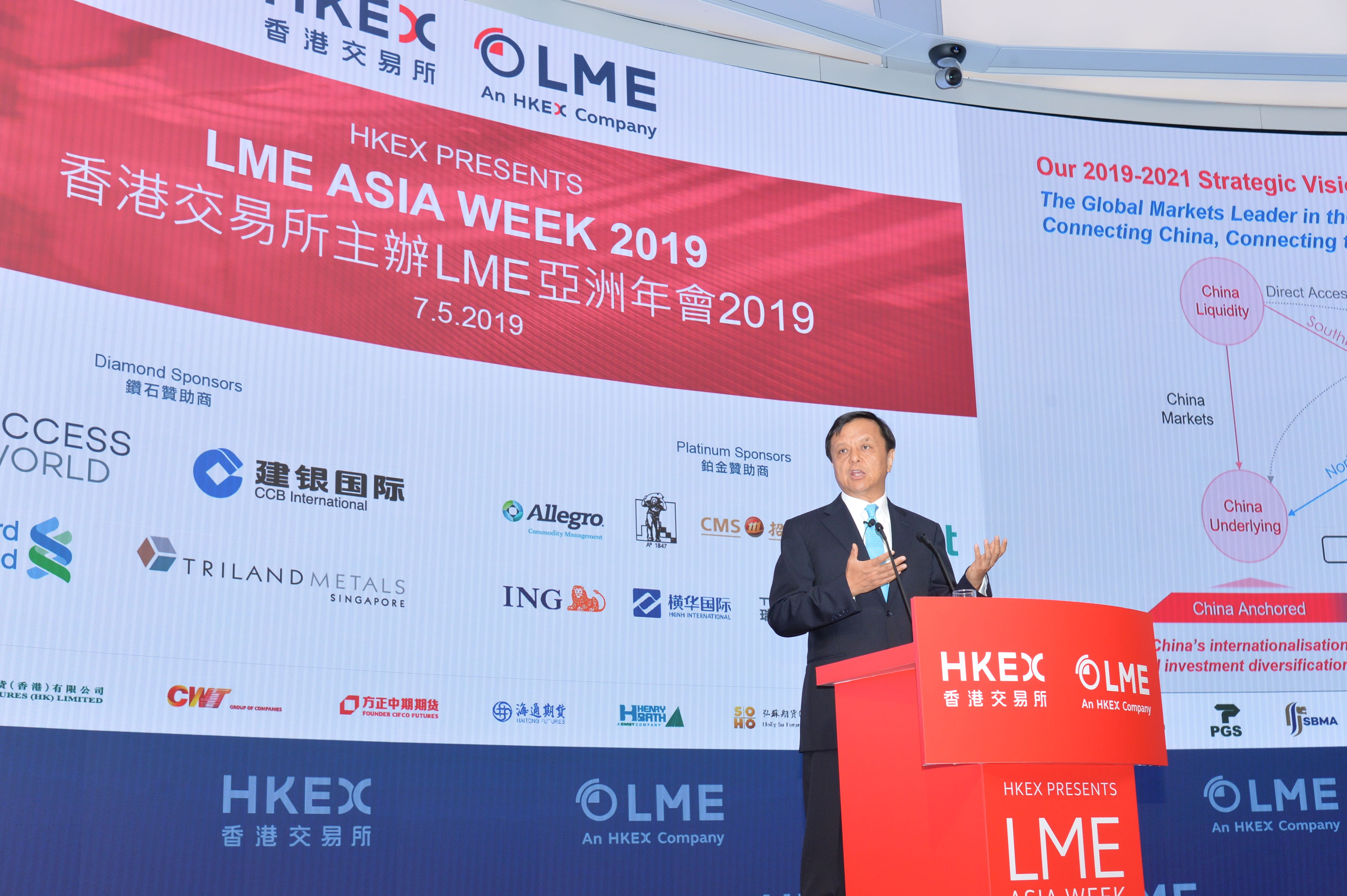HKEX Chief Executive Charles Li introduces HKEX's initiatives in commodities area